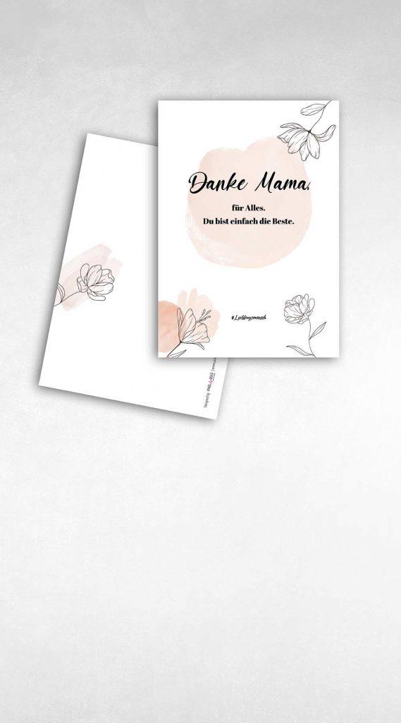 Postkarte zum Muttertag Design von Pixel-Puls