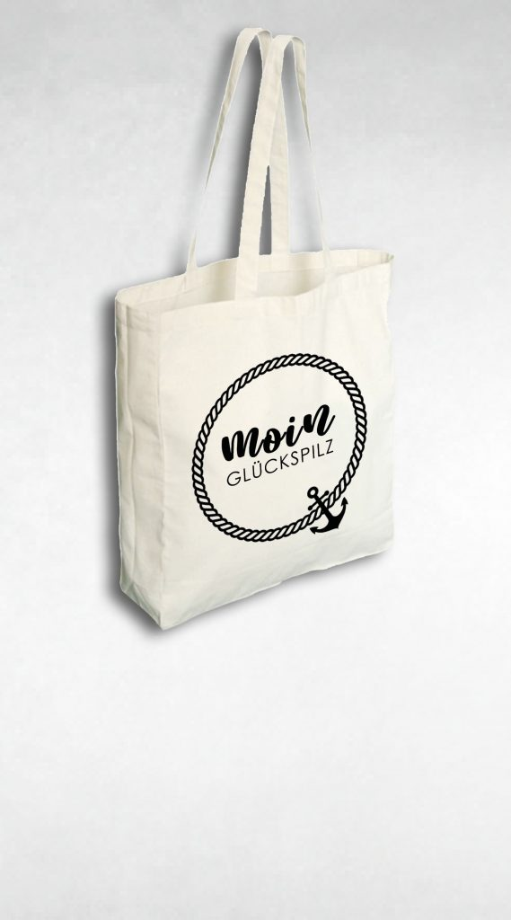 Baumwolltasche Shopper aus Jute mit Print