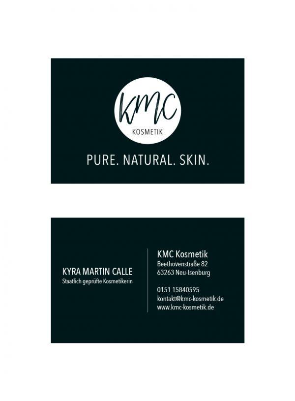 Pixel-Puls Printmedien Visitenkarte KMC Kosmetik Neu-Isenburg