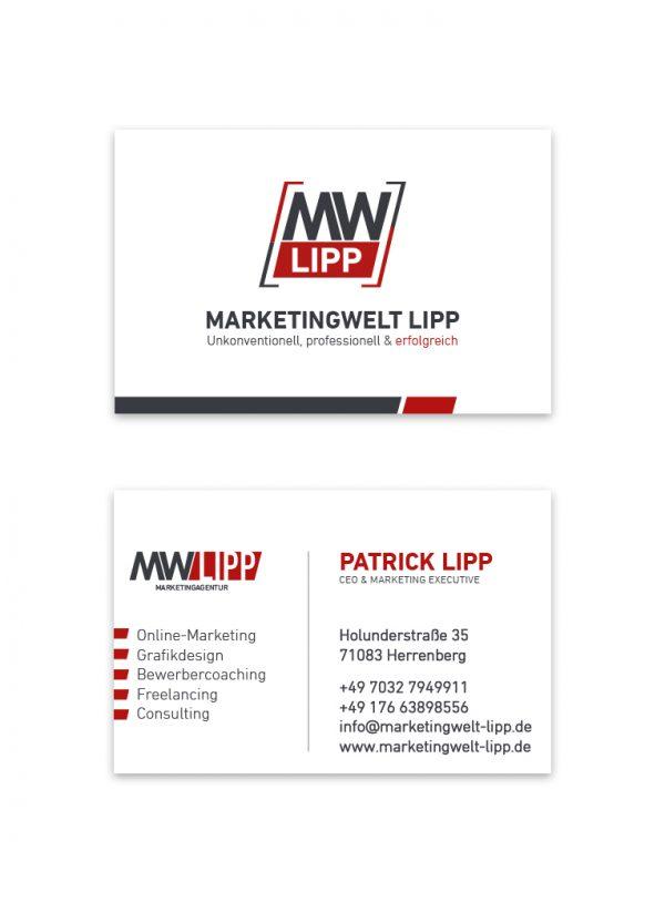 Pixel-Puls Printmedien Visitenkarte Marketingwelt Lipp Gültstein