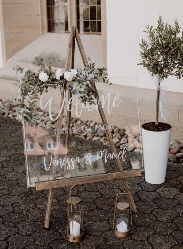 SCHILD für eine Hochzeit