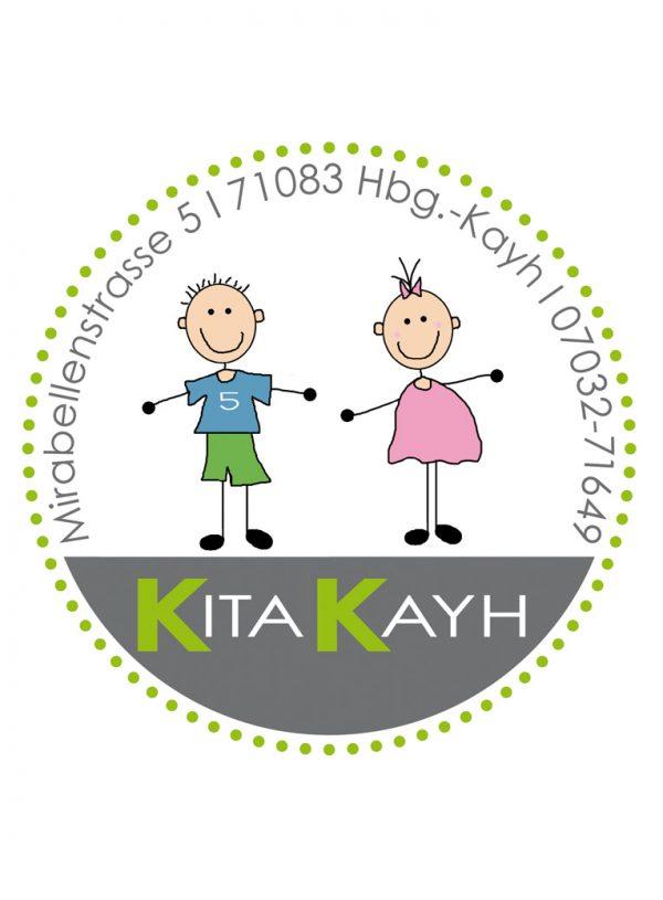 Portfolio - Logo Entwicklung und Umsetzung für die Kita Kayh