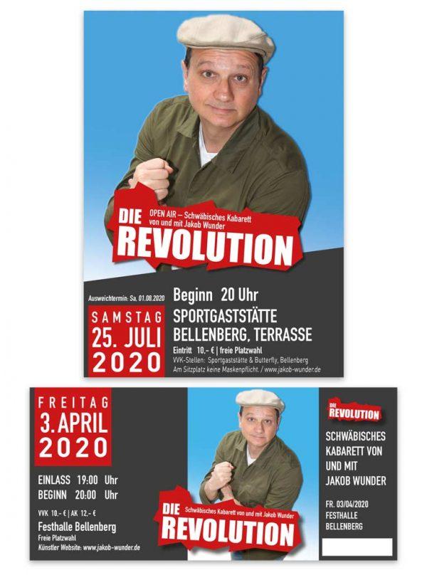 Plakat-und-Ticket-für-Kabarett-Jakob-Wunder